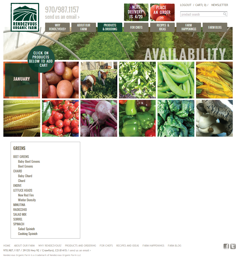 Denver Web Design & Development Porfolio | Rendezvous Organic Farm ...